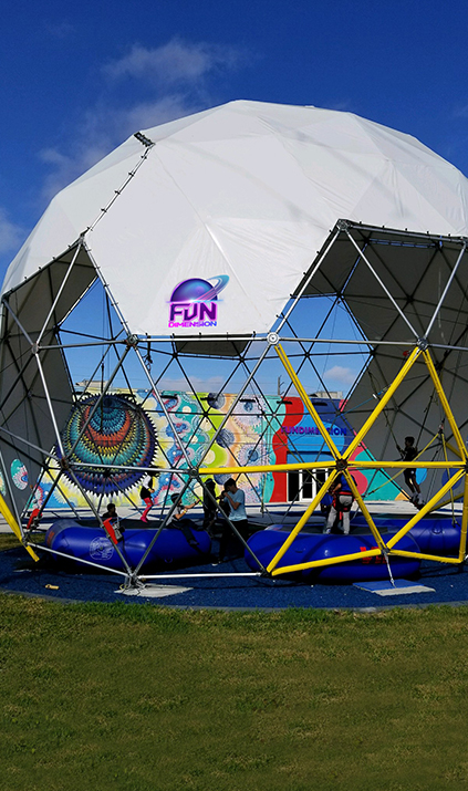 Outdoor Bungee Dome at Fun Dimension